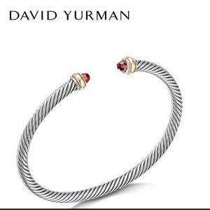 David Yurman ■ Garnet Cable Classics Bracelet